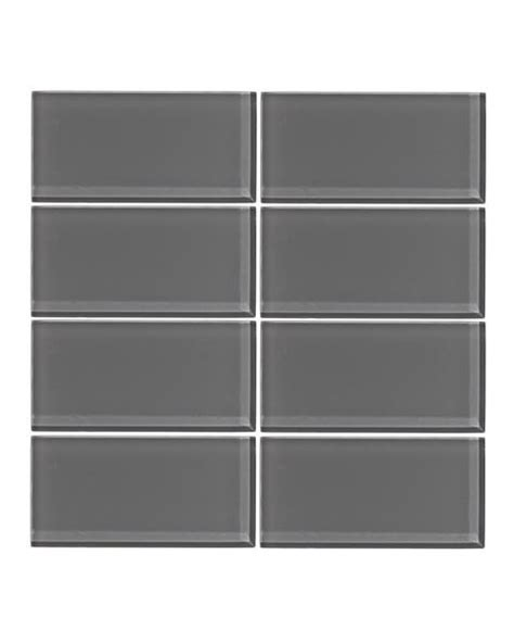 taupe gray 3x6 glass subway tile vicci design