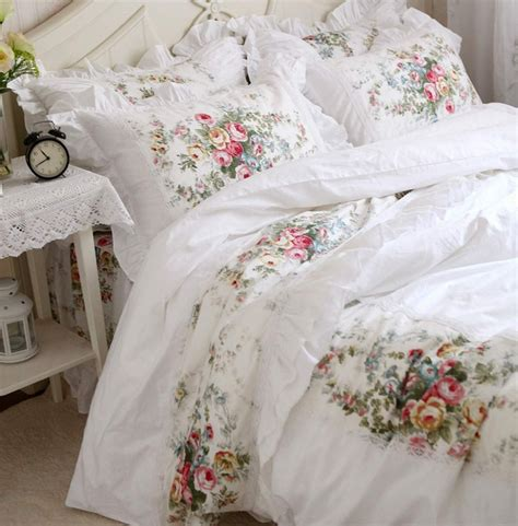 vintage bedding vintage flower lace bed sets cotton king singel home textile