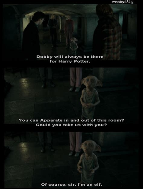 film quotes harry potter dobby movie quotes quotesgram