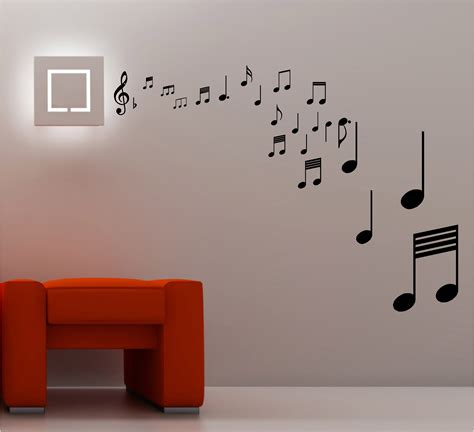 music decals for bedroom stunning musical notes wall art quote sticker vinyl music