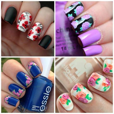 imagenes de uñas decoradas variadas u 241 as de flores foto enfemenino