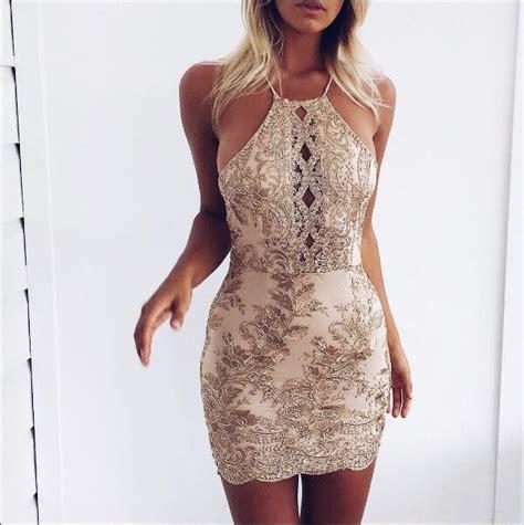 Dress Vintagesexy Dressmini Dressdress sheath sequins mini dress 183 modsele 183
