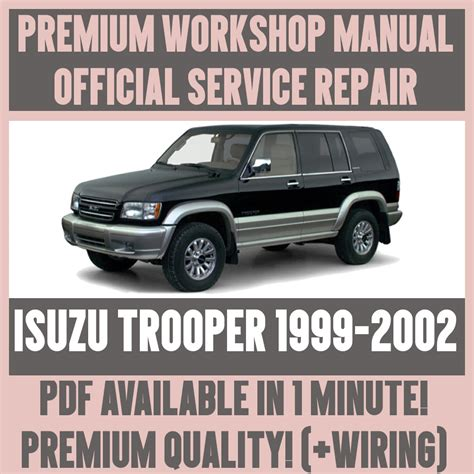 car repair manuals online free 1999 isuzu oasis spare parts catalogs workshop manual service repair guide for isuzu trooper 1999 2002 wiring ebay