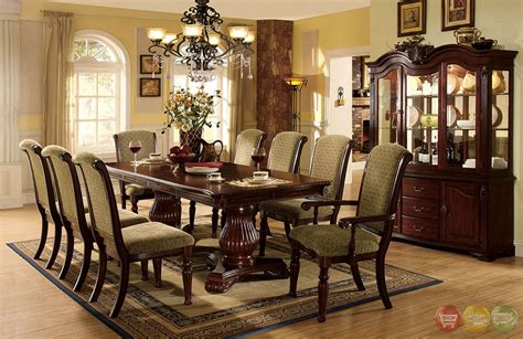 formal cherry dining room sets majesta ii elegant dark cherry formal dining set with