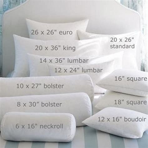 Pillow Sizes Chart by Accent Pillows Glossary Sugar Sweet Homes
