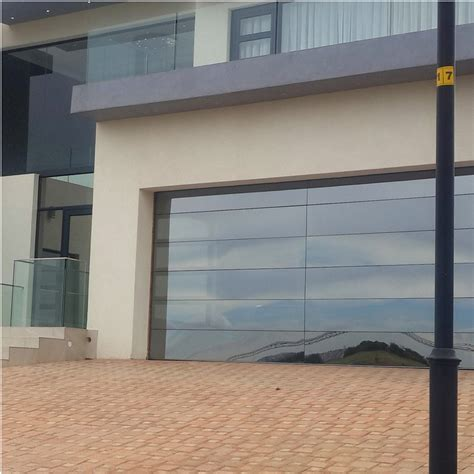frameless mirror glass garage door  china manufacturer