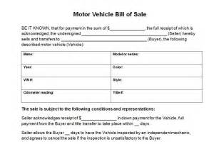 simple vehicle bill of sale template vehicle bill of sale template cyberuse