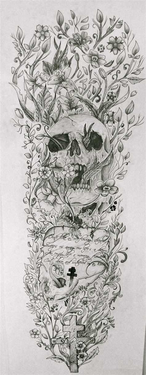 tattoo sleeve drawings the gallery for gt skull sleeve drawings