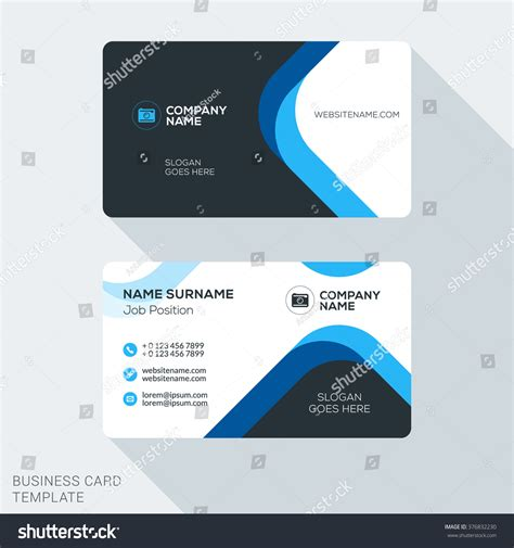 Business Card Appointment Clean Template Design Illustrator by Creative Clean Corporate Business Card Template Stock
