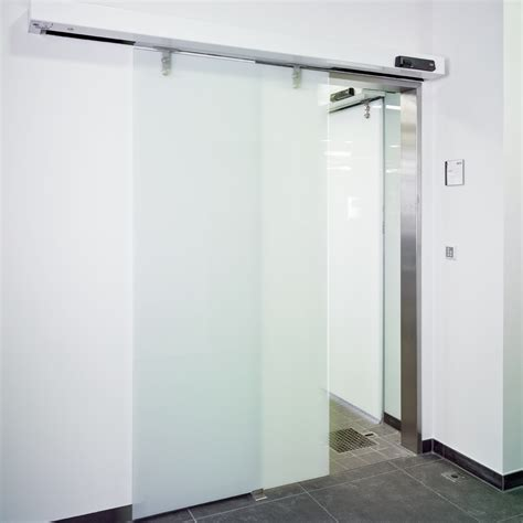 dorma st manet automatic sliding door with toughened glass