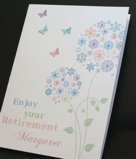 Large Birthday Cards Uk Large A5 Handmade Personalised Floral Retirement Birthday Card
