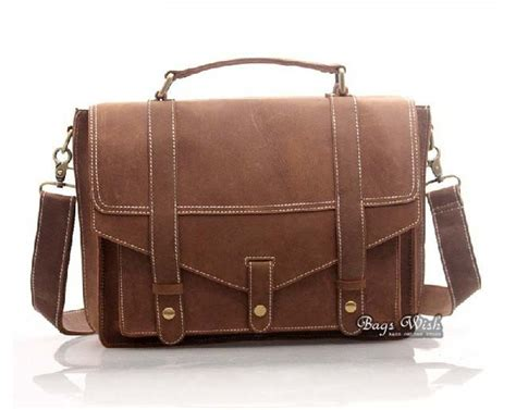 antique leather briefcase brown 13 3 notebook leather bag