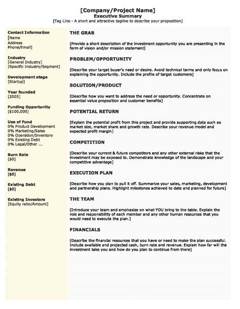 real estate executive summary template template real estate executive summary define in business