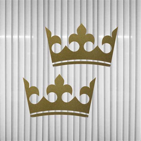 Fenster Aufkleber Gold by 2 Kronen 12cm Gold K 246 Nig Krone Aufkleber Auto