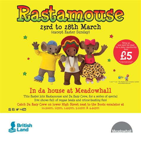in da house rastamouse in da house at meadowhall official rastamouse website