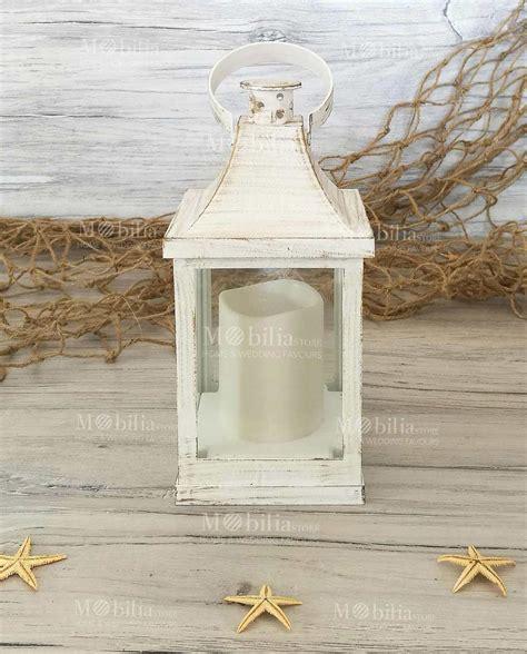 lanterna con candela lanterna plastica effetto legno candela led inclusa