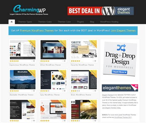 themes wordpress free premium charmingwp high quality free and premium wordpress