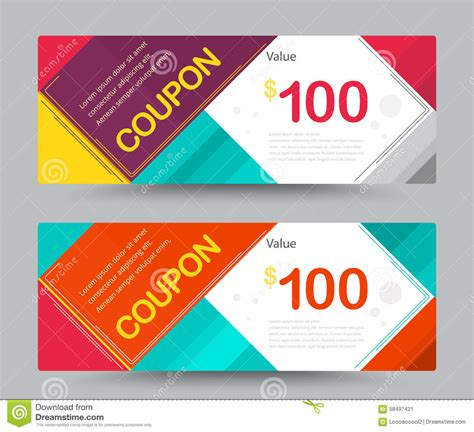 customer discount card template gift voucher coupon template design for special time