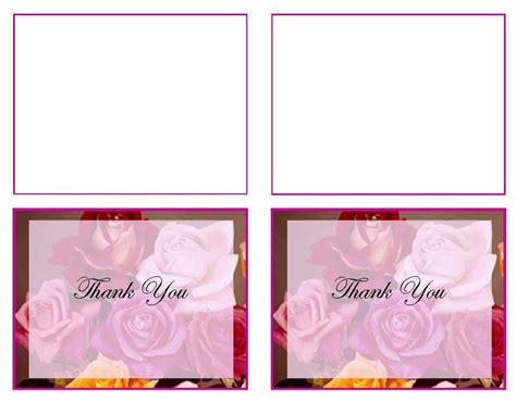 thank you card template word 2003 funeral thank you card templates flowers of devotion