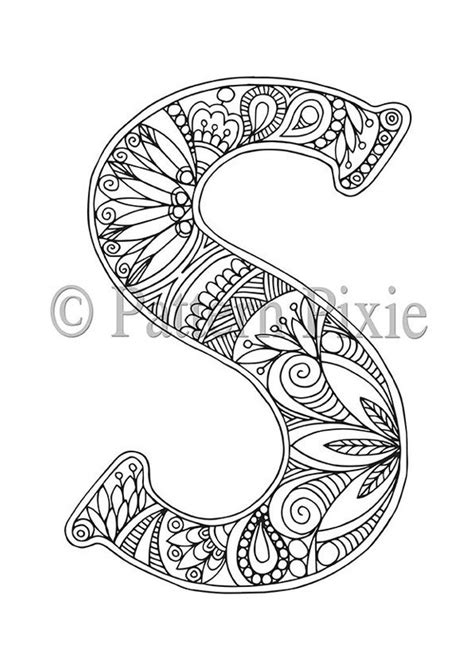 Letter J Coloring Pages For Adults by Colouring Page Alphabet Letter S