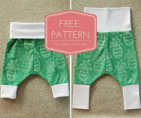 free pattern harem pants grow with me baby harem pants free instant download pdf