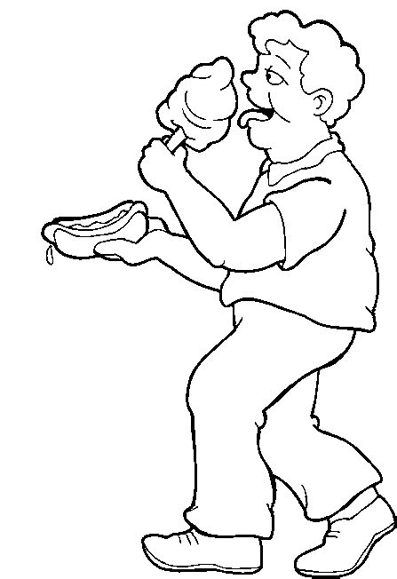 Cotton Candy Coloring Pages Coloring Home Cotton Coloring Page