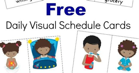 free printable daily visual schedule extra daily visual schedule cards free printables visual