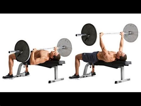 what do bench presses work out chest flat bench press workout with expert trainer male