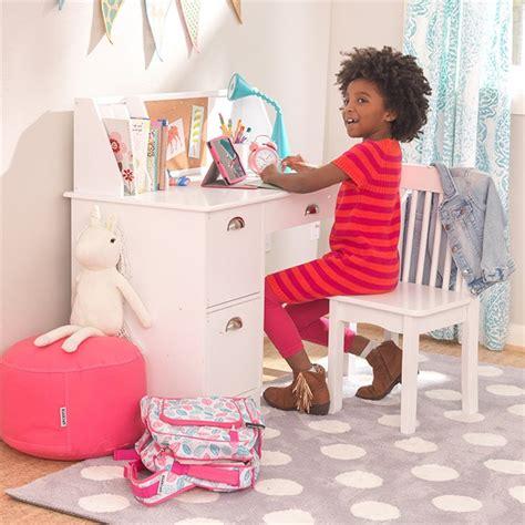 kidkraft white desk kidkraft writing desk and chair in white 26704