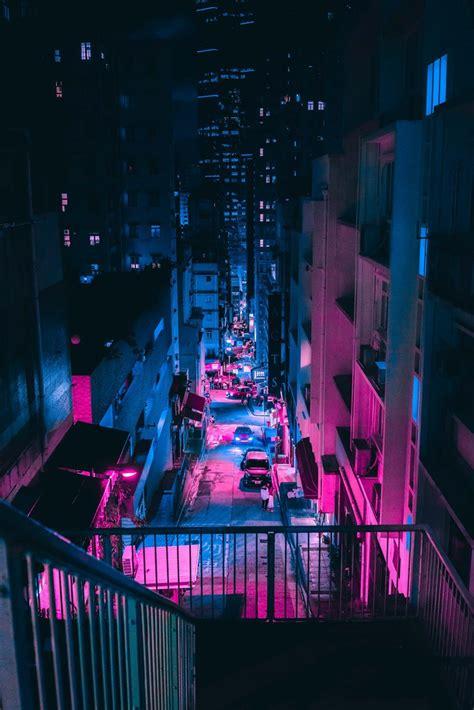 steve roes vaporwave aesthetic captures  cyberpunk urbanism