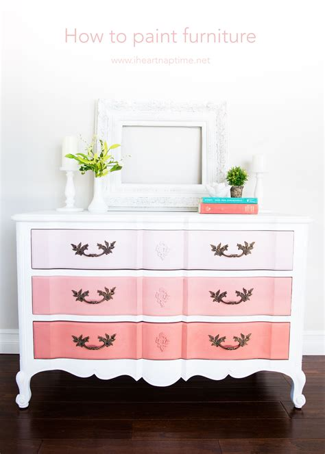 how to paint furniture and ombre dresser i nap time