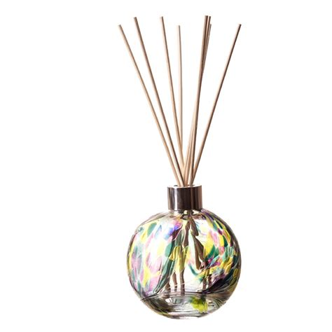 Lime Green Glass Vase Glass Reed Scent Diffusers In Hand Blown Glass Designs