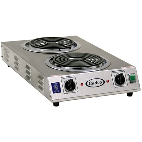 Electric Countertop Range by Cadco Cdr 2tfb Countertop Electric Range 2 8 Quot Burners 3000 Watts