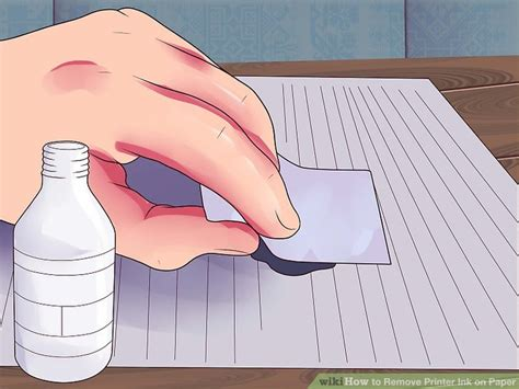 how to remove ink writing from paper how to remove printer ink on paper 8 steps with pictures