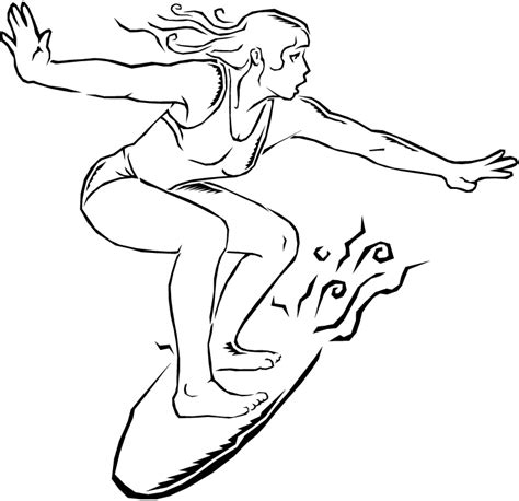 coloring pages surfer girl free surfer coloring pages