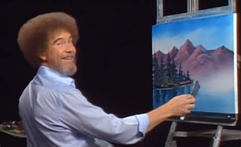 bob ross painting tv a nation turns its lonely to bob ross glasstire