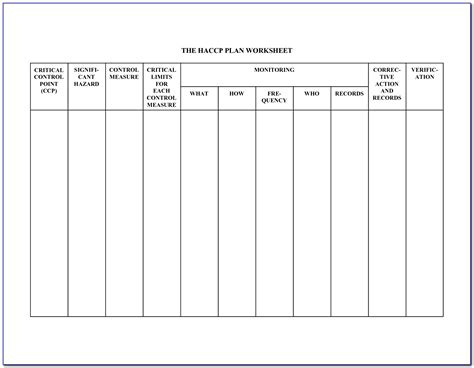 haccp plan form  form resume examples aqpoeq