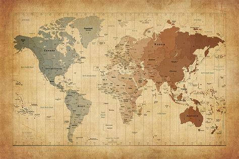 time zones map   world digital art  michael tompsett