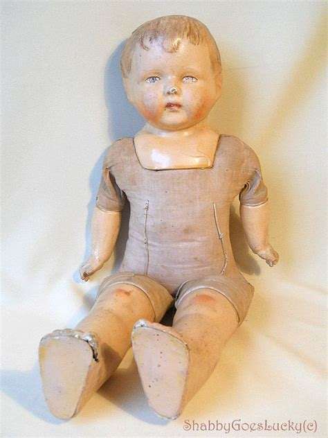 german composition doll antique 1924 german composition cloth doll sico sicora by