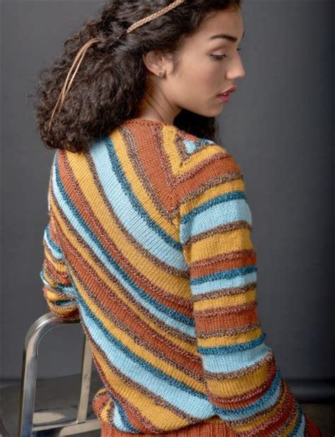 knitting pattern sweater pinterest free knitting pattern for diagonal stripes pullover