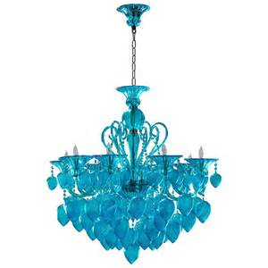 Murano Chandelier For Sale Bella Vetro Light Blue Aqua Murano Glass 8 Light Ornament