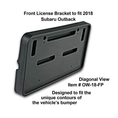subaru outback custom bumper front license bracket by c c carworx to fit 2018 subaru