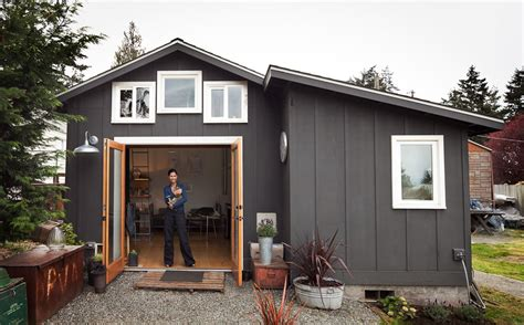 Mini Shed House by Small Garage Converted To Tiny Mini House Idesignarch