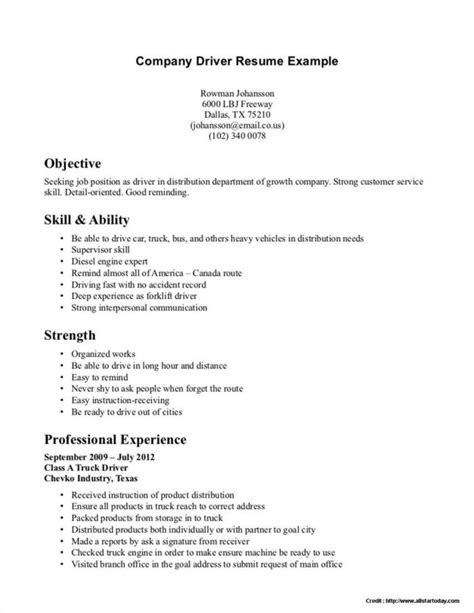 truck driver summary qualifications resume resume
