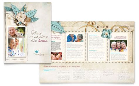 home health care brochure templates hospice home care brochure template design
