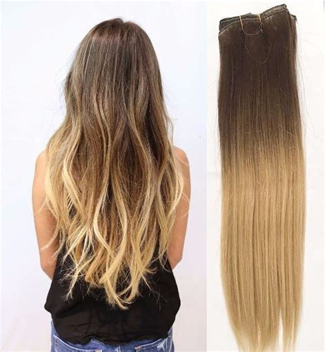 dying real hair extensions clip in ombre 70 real human hair extensions