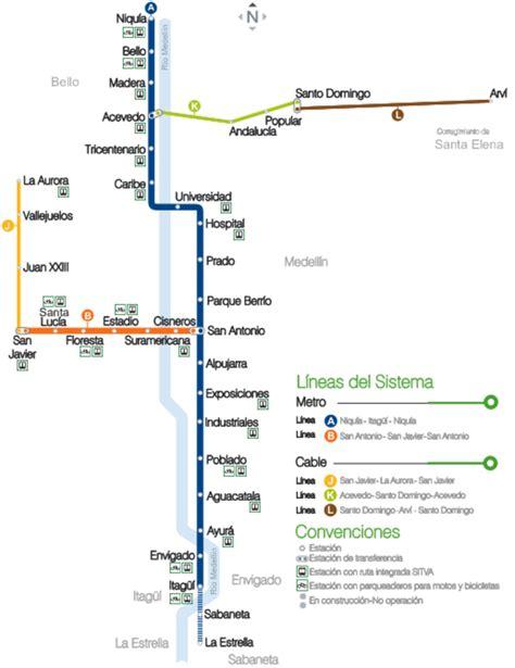 ruta alimentadores metro mapa del metro de medellin colombia