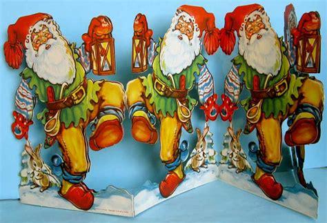 christmas ornaments paper  spun glass stand ups figures