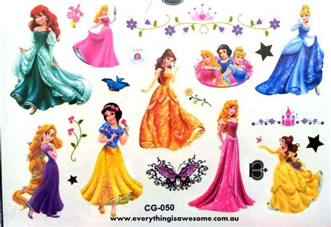 Disney Frozen Temporary Tattoos For New everything is awesome new disney princess temporary