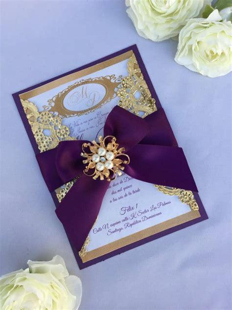 purple wedding invitations boxes wedding invitation templates purple and gold wedding
